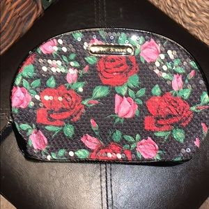 Betsey Johnson Roses Sequins Make-Up Bag